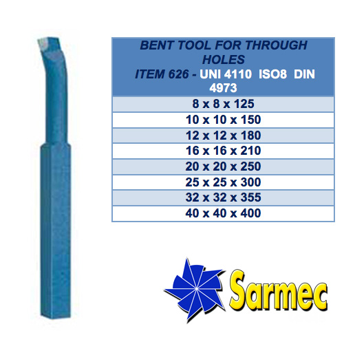 Item 626 Bent tool for through holes