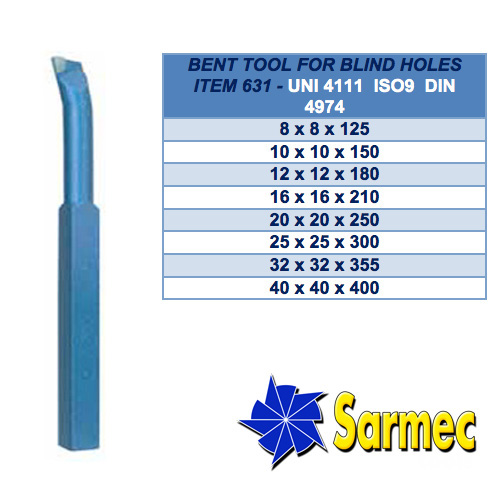 Item 631 Bent tool for blind holes