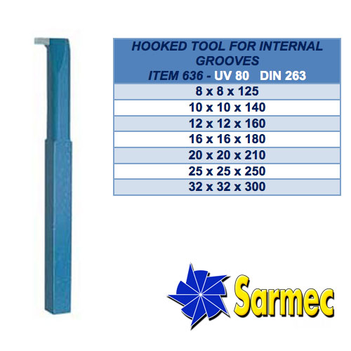 Item 636 Hooked tool for internal grooves