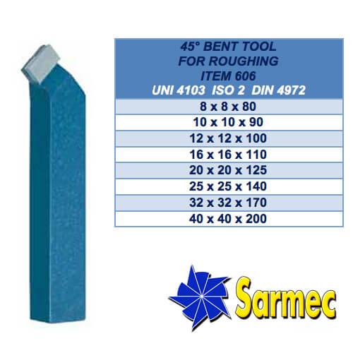Art. 606 Utensile piegato per sgrossare UNI 4103 ISO 2 DIN 4972